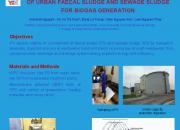 Anaerobic Co- digestion of urban faecal sludge and sewage sludge for biogas generation